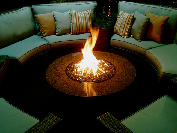 Designing Fire - Granite Top Fire Table