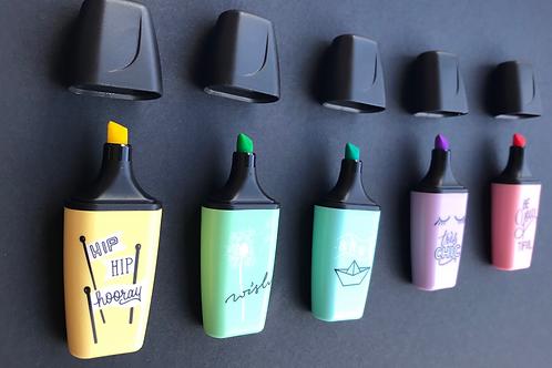 Mini pastel highlighters