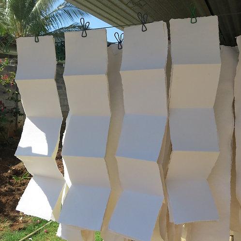 Khadi Zig Zag Cards 7.5 x 7.5