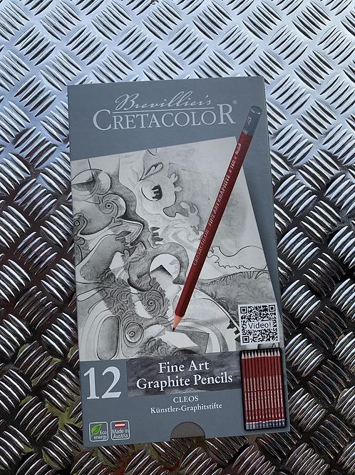 Cretacolour Graphite Pencil Set (12)