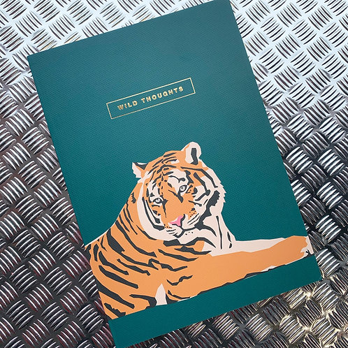Wild Thoughts Tiger B5 Notebook