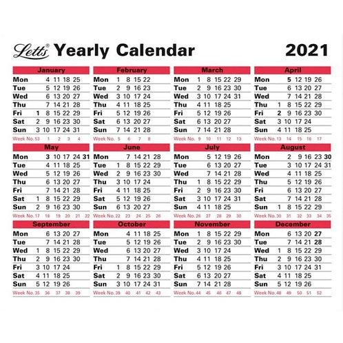 Letts Annual Desk Calendar