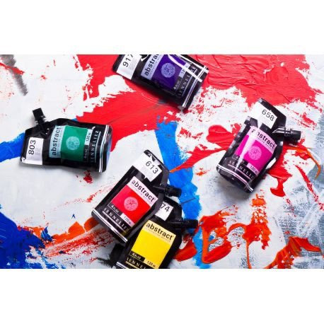 Abstract Acrylic Paint Pouches