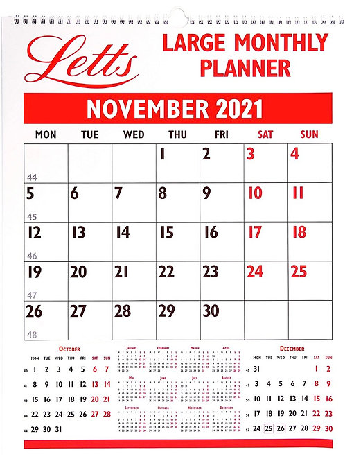 Letts Large Monthly Planner