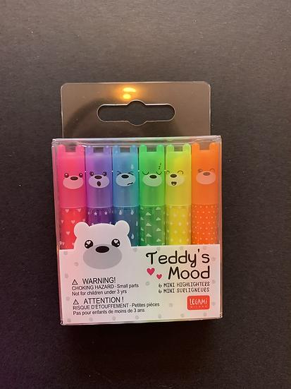 Legami Teddy's Mood Mini Highlighters