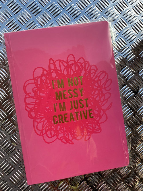 Messy Creative A5 Notebook