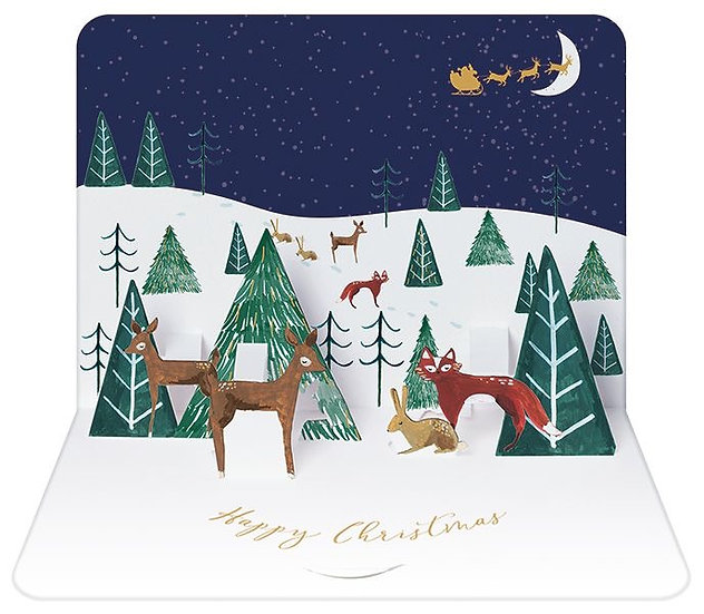 3D Stand up Christmas Card Packs of 5