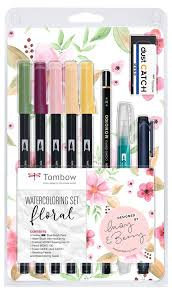 TomBow Watercolouring Set - Floral