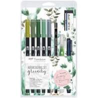 TomBow Watercolouring Set - Greenery