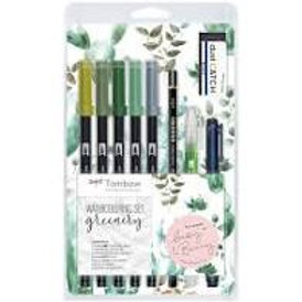 TomBow Watercolouring Set - Greenery