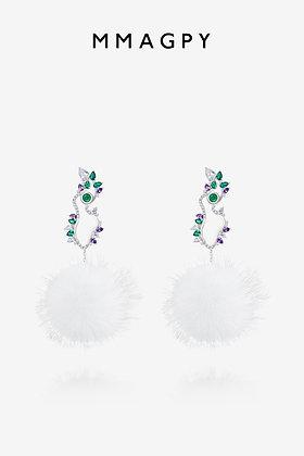 Furry Elf Stud Earrings