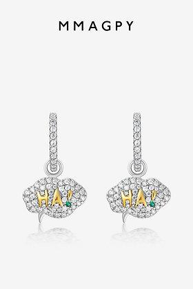 Chat Bubble Stud Earrings