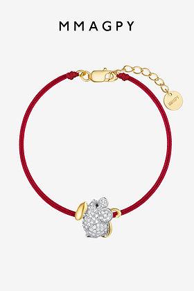 (Pre-order) The red line bracelet of Golden rat