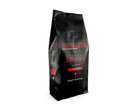 2.2lb Barbarossa roasted coffee beans - Miscela Suprema - 100% Strong & Fragrant
