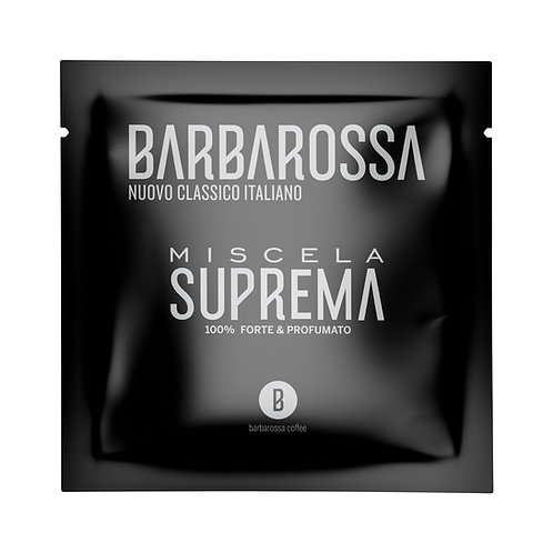 """100 """"Awesome"""" Barbarossa coffee pods ESE - Miscela Suprema - 100% Strong & Aromatic"""