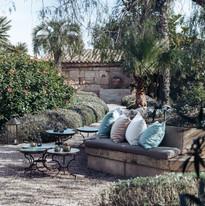 Garden With Cushions by Pernilla Daniels