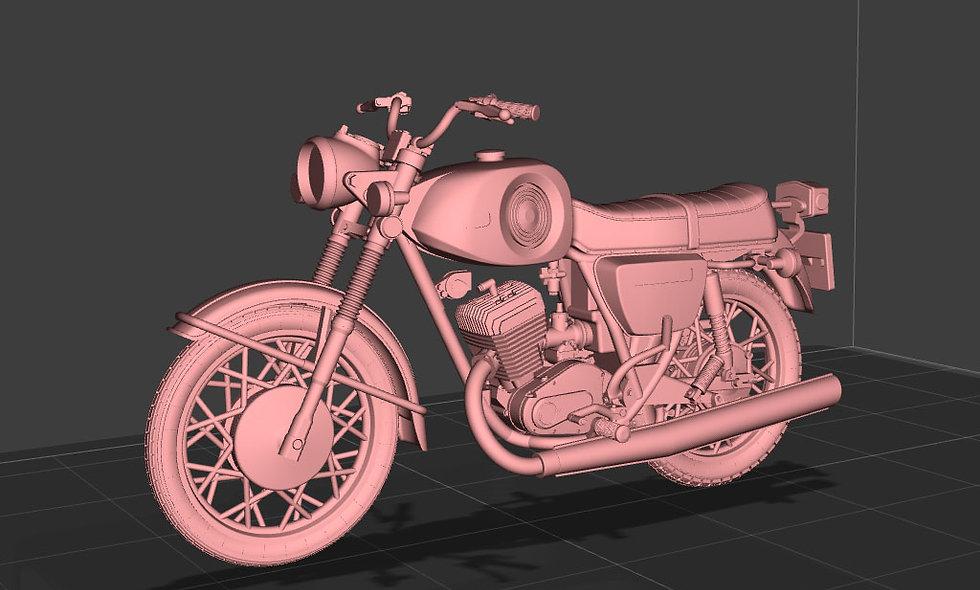 Мотоцикл Планета-Спорт одним файлом (3D-модель для 3D-принтера в формате STL)