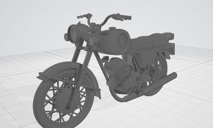 Мотоцикл Планета-Спорт (3D-модель с разбивкой для 3D-принтера)