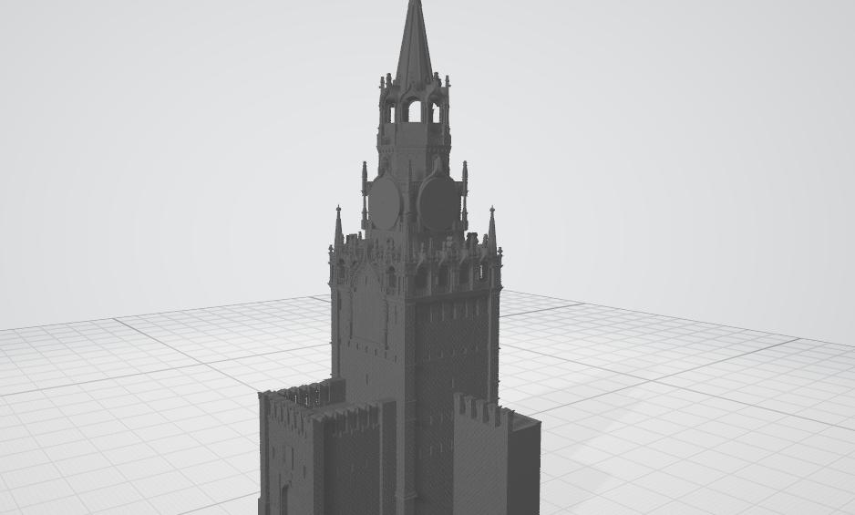 Спасская башня (3D-модель для 3D-принтера в формате STL)