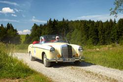 MB 220 Ponton Cabrio mieten Augsburg