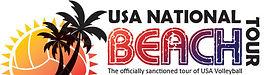 USA National Beach Tour Logo Full  Color