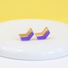 Arrow Stud - Purple