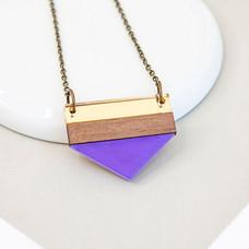 Point Necklace - Purple
