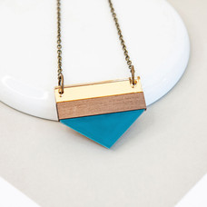 Point Necklace - Blue