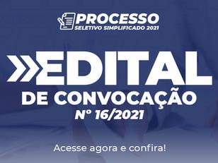 Edital de Convocação nº 16/2021