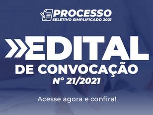 Edital de Convocação nº 21/2021