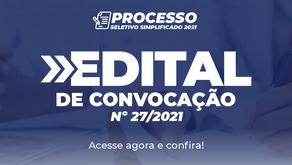 Edital de Convocação nº 27/2021