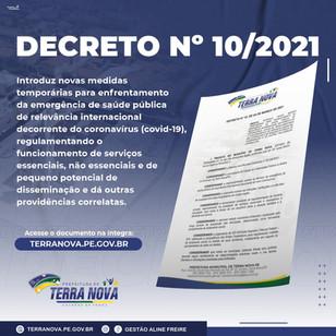 Decreto Nº 10 de 04 de março de 2021