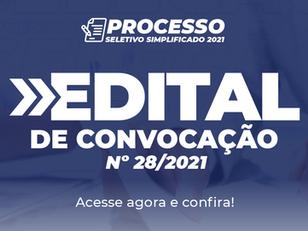 Edital de Convocação nº 28/2021