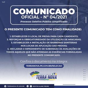 Comunicado nº 04/2021
