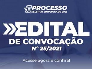 Edital de Convocação nº 25/2021