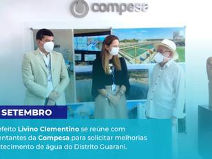 Livino Clementino se reúne com Representantes da Compesa para melhorias na abastecimento de água.