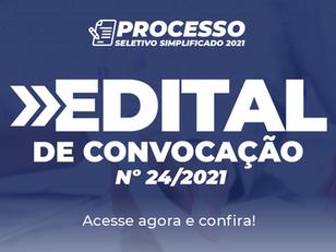 Edital de Convocação nº 24/2021