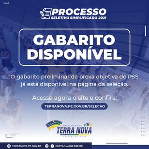 Confira aqui o Gabarito Preliminar do PSS