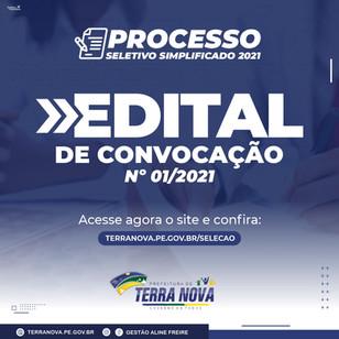 Edital de Convocação nº 01/2021
