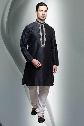 Black kurti with white pant
