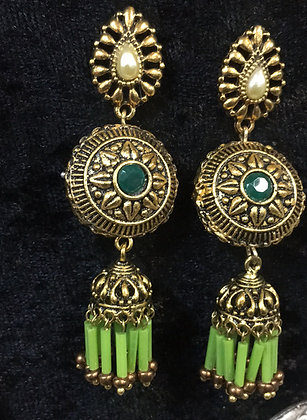 Handmade antique gold toned jumkhas