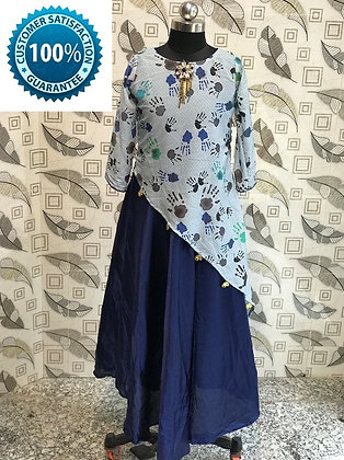 Blue & Nevy Blue Gown