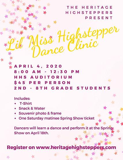 2020 Lil Miss Highstepper Dance Clinic.j
