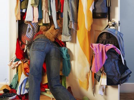 O dia depois do closet cleaning*