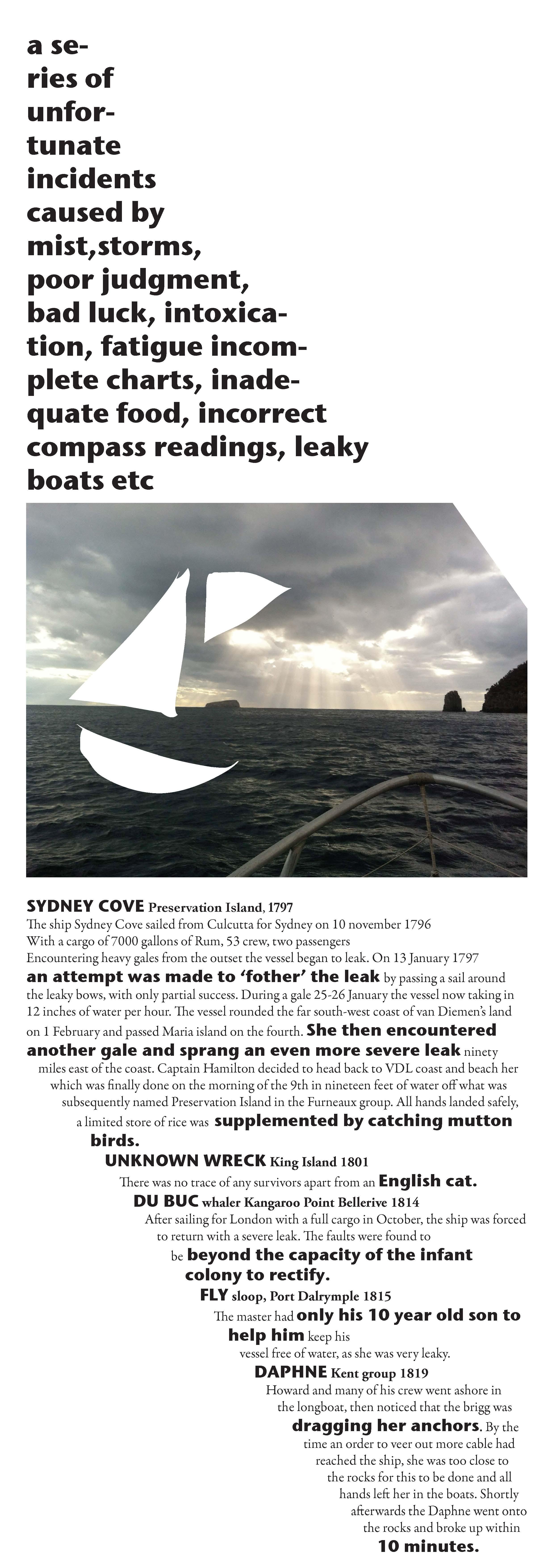 Shipwrecks of Tasmania Exhibition