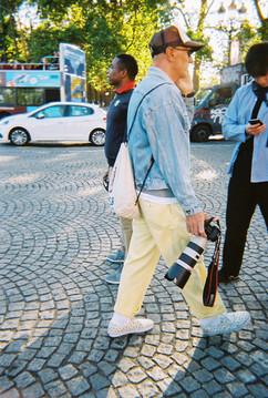 Some photographer at Paris Fashion Week