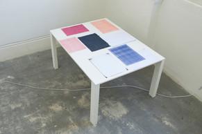 Imprints Inkjet and Laser prints onto Carbon Copy Paper   29.7 x 20.1, 17.6 x 25 cm 2018