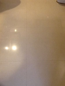 Dirty, dull and old grouting in floor af