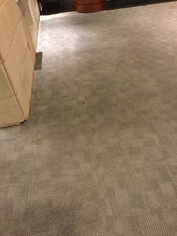 Food stain on cleaned carpet after