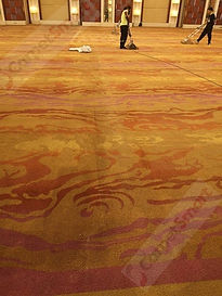 Ballroom deep carpet clean visible befor